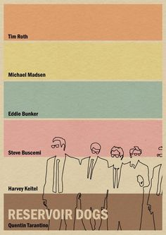 Reservoir Dogs minimalist movie poster