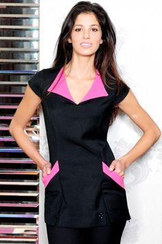 Stylish beauty tunics for the committed and hard working professionals of the beauty & health industry. Salon Uniform, Spa Uniform, Scrubs Uniform, Beauty Tunics, Salon Wear, Stylish Scrubs, Beauty Uniforms, Scrubs Outfit, Work Uniforms