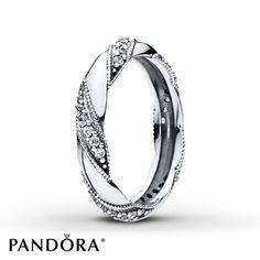PANDORA Ring Ribbon of Love Sterling Silver