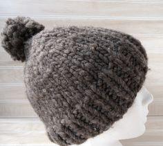 e907f15713a Items similar to Pompom Knit wool toque