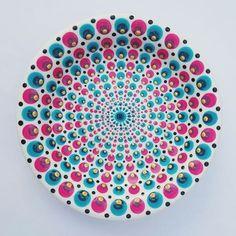 Mandala Drawing, Mandala Painting, Dot Art Painting, Pottery Painting, Mandala Dots, Mandala Pattern, Candle Box, Fabric Markers, Yarn Bowl