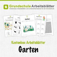 Kostenlose Arbeitsblätter und Unterrichtsmaterial für den Sachunterricht zum Thema Garten in der Grundschule.