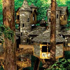 Not just a treehouse...it looks more like a tree castle!