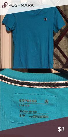Express v neck Tshirt turquoise color Express v neck Tshirt turquoise color Express Shirts Tees - Short Sleeve
