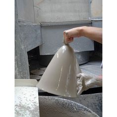 Bone china shade, Ø 12 cm. Porcelain wall attachment, Ø 8. 5 cm. Max projection 24. 5 cm. Weight 550 g. Plastic E 27... - Bone China Wall Lamp
