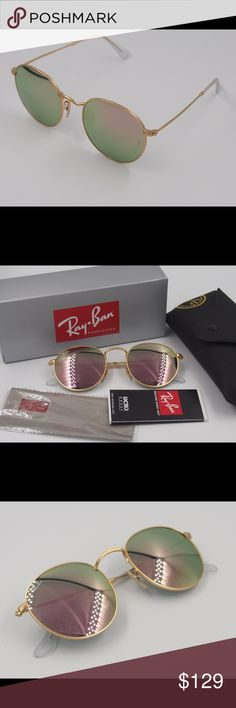 Ray ban 3447 round rose gold sunglasses Ray ban 3447 round rose gold sunglasses Brand new no scratches 100% really and you can check the letters carved in the glasses. Fast shipping Ray-Ban Accessories Sunglasses
