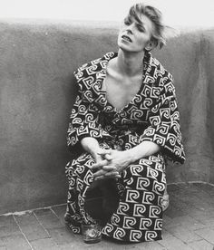 David Bowie ellethekitty says: I would guess this is 1976 or so. Great sense of fashion although he hit the cocaine a little too hard