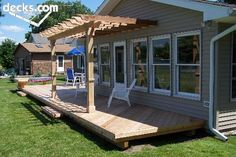 Completed decks and pergola projects by TM Construction! Home Improvement Services! Small Garden Pergola, Pergola Attached To House, Deck With Pergola, Pergola Plans, Pergola Kits, Backyard, Patio, Pergola Ideas, Decking Ideas
