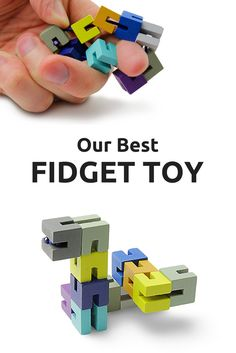 Fidget Widgets relieve stress and increase concentration through manipulating, twisting, and turning the blocks into different shapes. The possibilities are nearly endless! Shape the blocks however you want – it's perfect for teaching children coordination, or for fiddling around while on those long conference calls at the office. It's simply our best fidget toy.