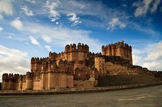 Castillo de Coca, Spain  is castle located in the province of Segovia, central Spain. The castle, belonging to the House of Alba, now serves as a tourist attraction, having been listed as a historical site by the government since 1931.
