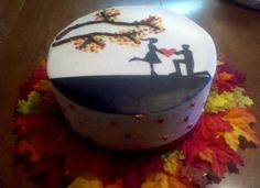 Evlilik teklifi için harika bir pasta...