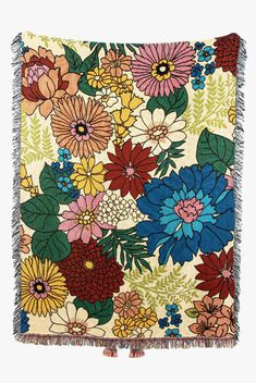 Flower Power Throw Blanket