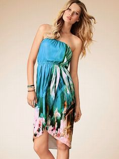 NEW! Strapless Tulip-hem Dress #VictoriasSecret http://www.victoriassecret.com/clothing/spring-dresses/strapless-tulip-hem-dress?ProductID=95434=OLS?cm_mmc=pinterest-_-product-_-x-_-x