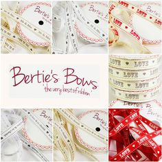 Bertie s Bows Mr & Mrs, Love & Cherish Ribbon - Cut Length & Spools - 3 for 2
