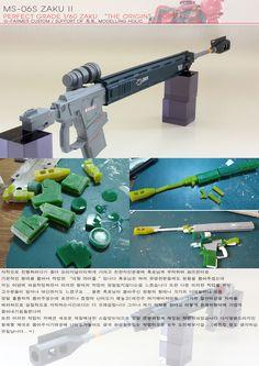 GUNDAM GUY: PG 1/60 Char's Zaku II The ORIGIN Format - Semi-Scratch Build