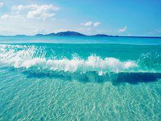crystal blue water!