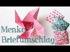 (1) Menko Origami Briefumschlag falten - YouTube Diy Paper, Paper Crafts, Diy Crafts, Washi, Origami Ornaments, Origami Decoration, Origami Box, Pocket Letters, Pop Up Cards