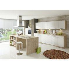 Diese <b>Einbauküche</b> von ALNO ist das neue Highlight in Ihrem Zuhause. Die Möbel vereinen beste Qualität, funktionale Vielseitigkeit und erstklassiges Design in perfekter Harmonie. Aus einer hochwertigen Flachpressplatte hergestellt, sind sie mit einer Dekorfolie beschichtet. Dank dieser sind die Oberflächen pflegeleicht und strapazierfähig.<div><br></div><div>Gemeinsam mit Ihrem Einrichtungsberater gestalten Sie Ihre Traumküche. Diese passen Sie perfekt an die räumlichen Gegebenheiten…