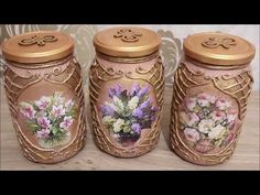 Coisas que Gosto: # 4 DIY decor Crafts With Glass Jars, Mason Jar Crafts, Bottle Crafts, Recycled Crafts, Diy And Crafts, Decoupage Jars, Wedding Centerpieces Mason Jars, Recycling, Recycled Glass Bottles