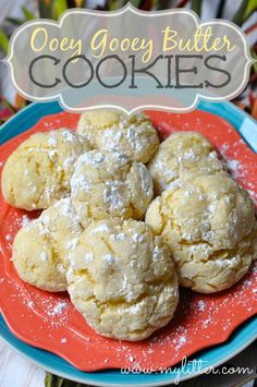 Ooey gooey Butter cookies - 12 Days of Christmas Cookies