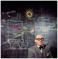 Image 2 of 3 from gallery of Rare images of Le Corbusier by Willy Rizzo, in color. Le Corbusier, by Willy Rizzo. Photos via Le Journal de la Photographie. Alvar Aalto, Le Corbusier, Frank Lloyd Wright, Architecture Design, Chinese Architecture, Architecture Office, Futuristic Architecture, Architecture Quotes, Architecture Sketches