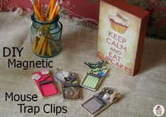 DIY Magnetic Mouse Trap Clips on HoosierHomemade.com