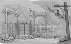 diablo 3 fan art // #art #artwork #architecture #sketch #design #illustration #drawing #fantasy #conceptart #game #gameart