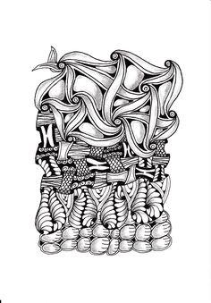 Renates Zentangle 17.11.2018 Zentangles, Ruffle Blouse, Drawings, Women, Art, Fashion, Art Background, Moda, Fashion Styles