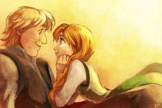 Anna and Kristoff. Awwww