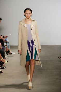 Derek Lam's spring collection was wonderfully reminiscent of the '70s. His updated take included a purple, patchwork suede that sounds wild, but was surprisingly tame, and high-waisted, flared pants in elevated fabrics. Sticking to his signature leather work, the collection was full of classic sportswear with the added element of luxury. I also can't talk about this collection without mentioning the incredible jumpsuits. I think they might officially be usurping the cocktail dress in both…
