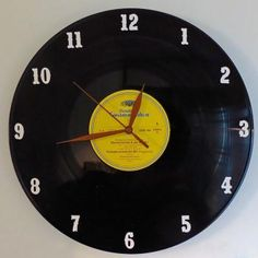 LP-seinäkello Recycled Cds, Lps, Recycling, Clock, Wall, Home Decor, Watch, Decoration Home, Room Decor