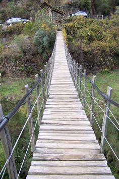 Piodão, Portugal (pedestrian route in Foz D'Egua - an Indiana Jones brigde!)