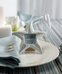 blue and silver starfish - like the picture frame idea...