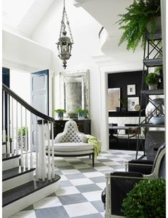 Windsor Smith. Simply chic. Loove the floor.