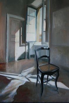 "Saatchi Online Artist Karina Knight; Painting, ""museum office light"" #art"