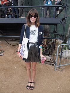 what #alexa chung would LITERALLY do. at sxsw.