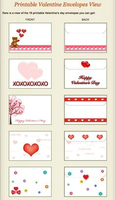Beautiful and High quality Free Printable Cards. Printable Birthday Cards, Printable Christmas Cards and more! Valentine Template, Printable Valentines Day Cards, Free Printable Cards, Printable Christmas Cards, Valentine's Day Printables, Valentine Cards, Birthday Cards, Envelopes, Wrapping Ideas