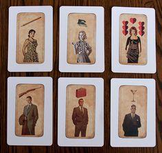 6 Mad Men Tarot Postcards. #Etsy