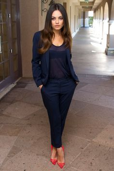 Navy Blue Dress Pants Women | work clothes | Pinterest | Navy blue ...