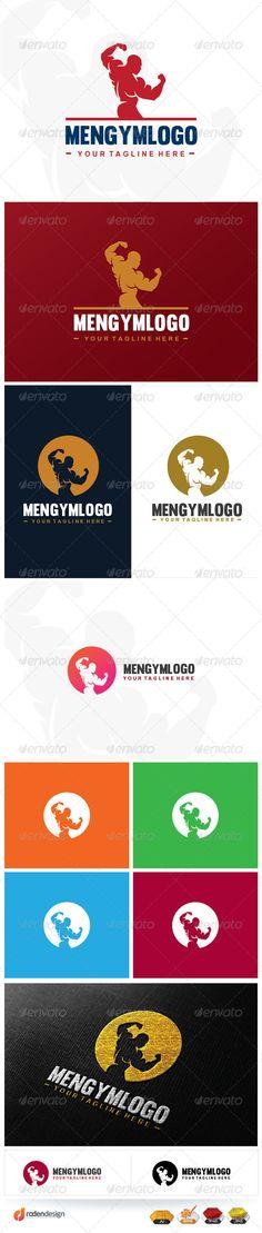 Professional gym logo template. editable font. editable colors, vector file .  #fitness #gym #logo