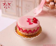 Strawberry Patisserie Cake 1/12 scale by HummingbirdMiniature