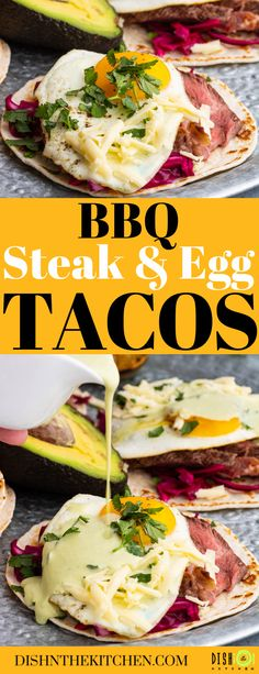 Egg Tacos with Grilled Steak are the ultimate weekend luxury breakfast, lunch, or dinner. This spin on steak and eggs pairs grilled steak with a perfectly fried egg in a taco. Served with a zesty Aji Verde. #eggtacos #tacos #breakfasttacos Brunch Recipes, Easy Dinner Recipes, Breakfast Recipes, Brunch Ideas, Breakfast Tacos, Savory Breakfast, Ways To Cook Steak, Kinds Of Steak, Steak And Eggs