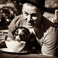 Channing Tatum with a puppy.... ohmygosh
