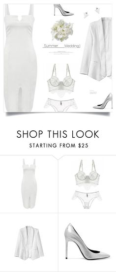 """""""Say I Do: Summer Weddings"""" by meyli-meyli ❤ liked on Polyvore featuring White Label and Yves Saint Laurent"""