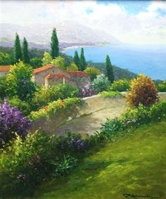 Hills Of Tuscany Watercolor Landscape, Landscape Art, Landscape Paintings, Watercolor Art, Pictures To Paint, Beautiful Landscapes, Art Photography, Original Paintings, Scenery