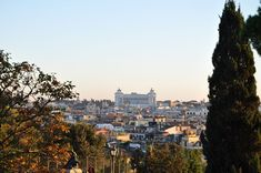 On the western side of Villa Borghese Gardens stands the Pincian Hill, or Pincio. When standing on the terrace of Pincio, your eyes will be immediately drawn to the spectacular view of Piazza del Popolo, together with the Prati district. Garden Stand, Luxury Travel, Paris Skyline, Grand Canyon, Rome, Terrace, Villa, Africa, Around The Worlds