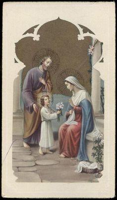 "santino-holy card""""ediz. NB serie 1-723 SACRA FAMIGLIA"