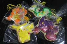 Pokemon cookies by Ladybugcakesdotcom on Etsy