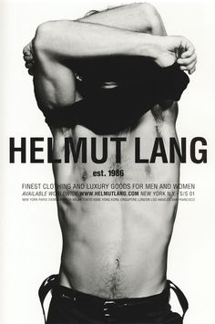 Helmut Lang spring/summer 2001 campaign, by Inez van Lamsweerde and Vinoodh Matadin