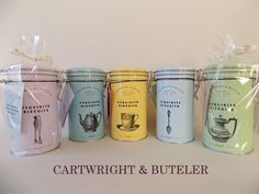 カートライトアンドバトラー CARTWRIGHT&BUTLER Tea Packaging, Bottle Packaging, Brand Packaging, Packaging Design, Tea Club, Menu Layout, Innovative Packaging, Spiced Coffee, Candy Shop